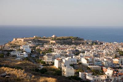 Vakantie Kreta. Uitzicht over Rethymno.