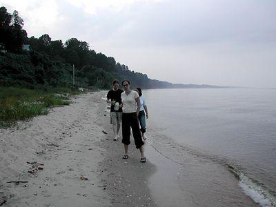 the last walk on the beach...