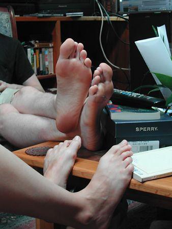 Jess and Alex's cute little feet