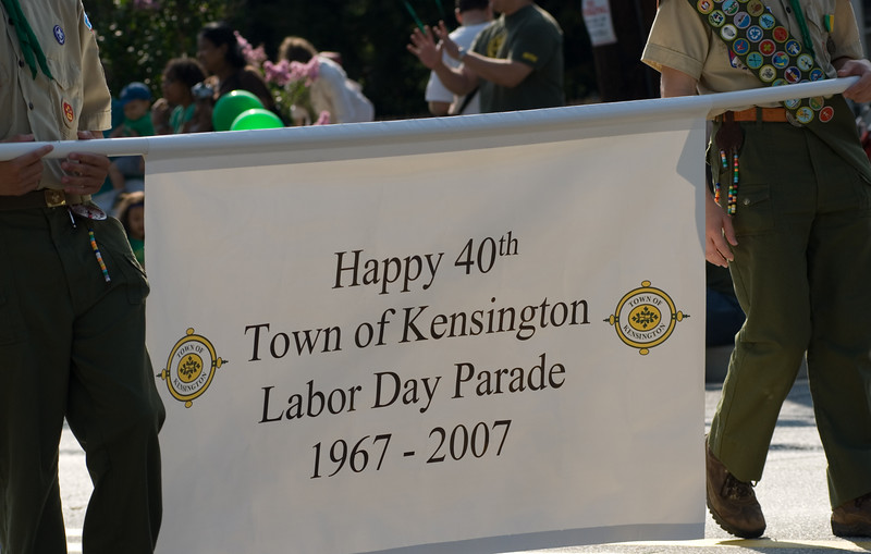 Our tenth, and Kensington's 40th, annual parade commenced this morning, September 3.