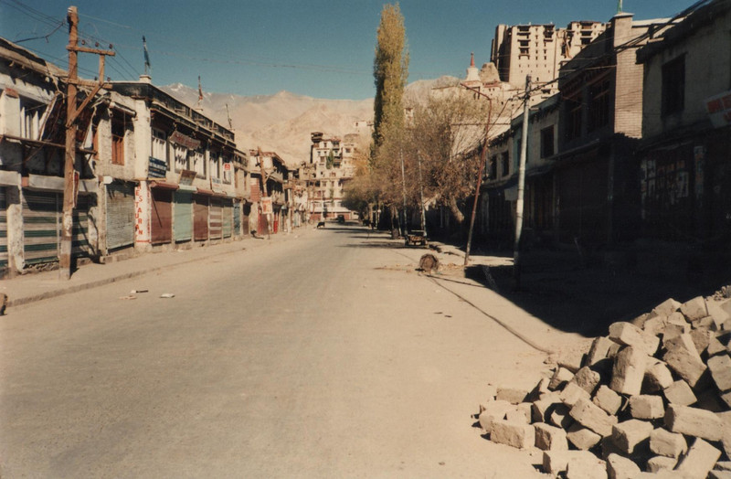 The main street in Leh October 1989. It had changed a bit since I had last been there !