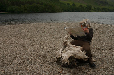 Michael at Crummock Water in a less dignified pose...