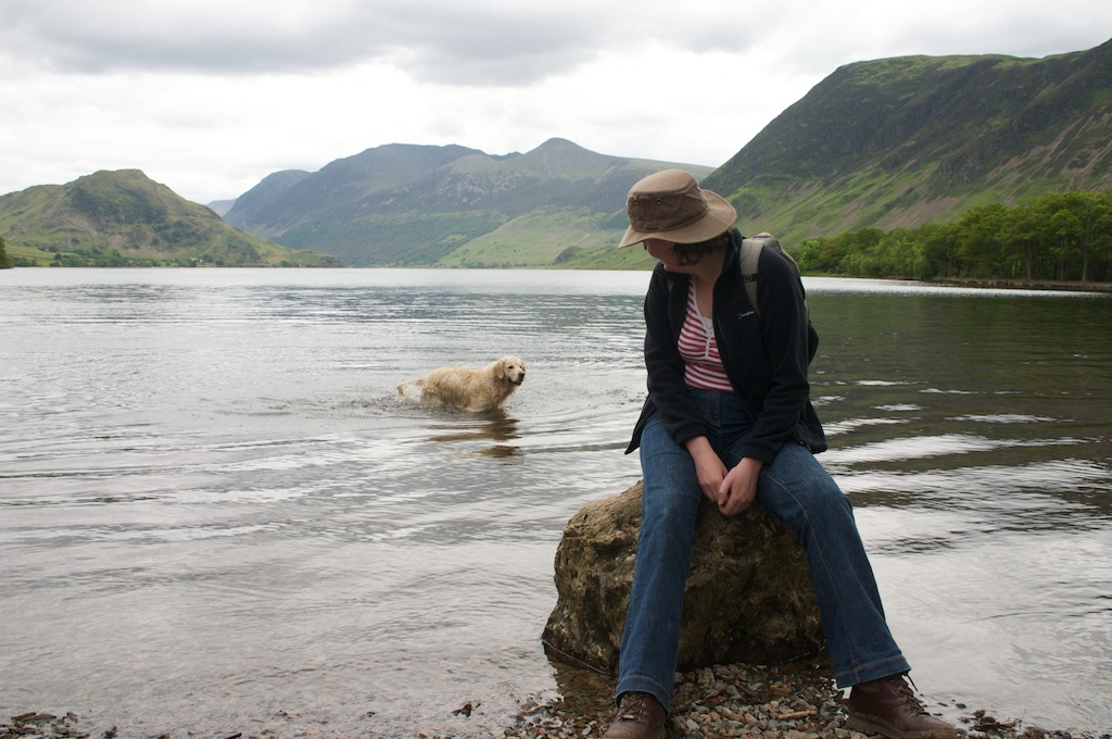 The Crummock Water submarine dog emerges from the depths