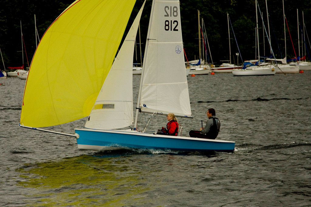 Ullswater - the ferry cruised slowly through the local yacht club sailing course