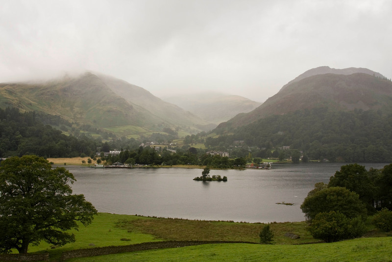Ullswater - Glenridding in the fore ground and Hellvelyn lost in the clouds