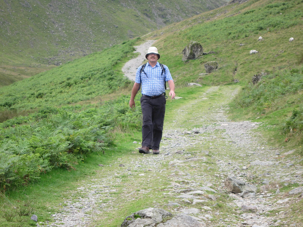 Heading down to Glenridding from Swirral edge
