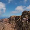Tourists enjoying the view at Mirador Del Rio.
