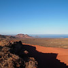 My last tour of Lanzarote took me to the barren wilderness of the volcanic, Timanfaya National Park.  The park is a giant volcano scape, created by a series of eruptions that lasted five years in the 18th century.