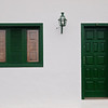 While other parts of Teguise look quaint, with the green painted door and window frames very typical for Lanzarote.