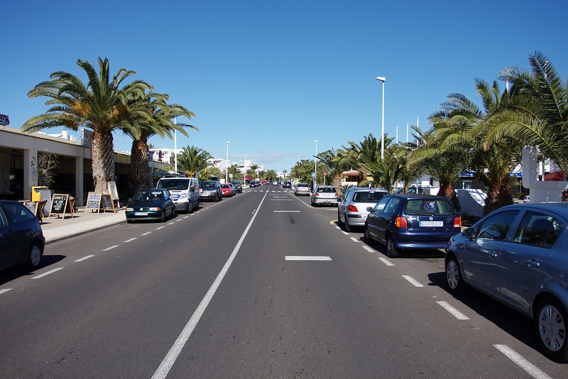 Main road in costa teguise