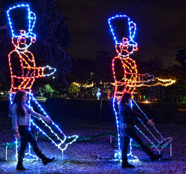Largo Park Lights:  Mackenzie and Jeanine - 12.31.13