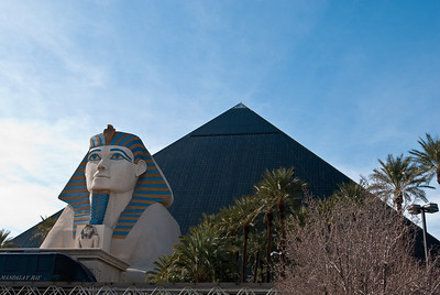 Outside the Luxor, Las Vegas.