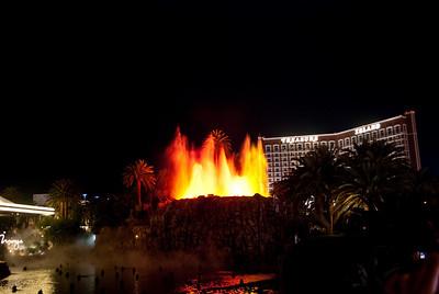 The Mirage Volcano.