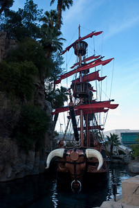 One of the Pirate Ships outside treasure Island. When i grow up i would like to live on this boat.