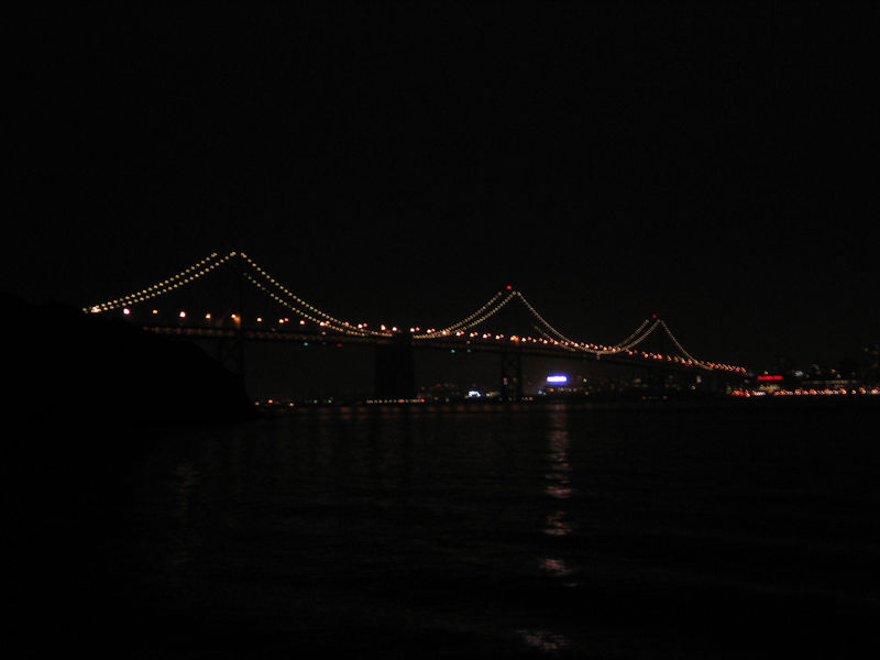 The western span of the Bay Bridge.