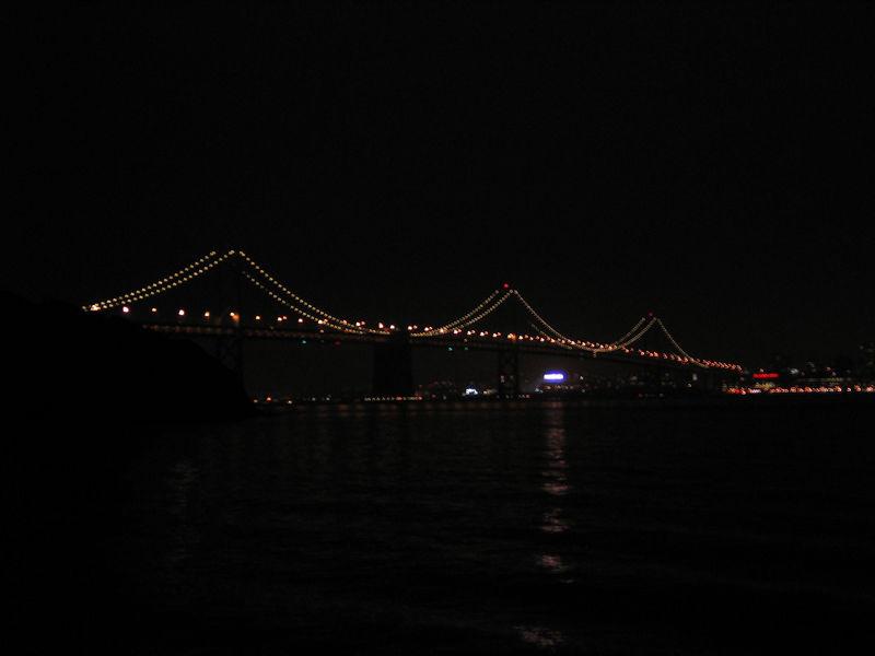 The western span of the Bay Bridge.
