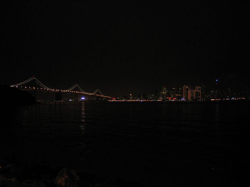 Bay Bridge and the City.