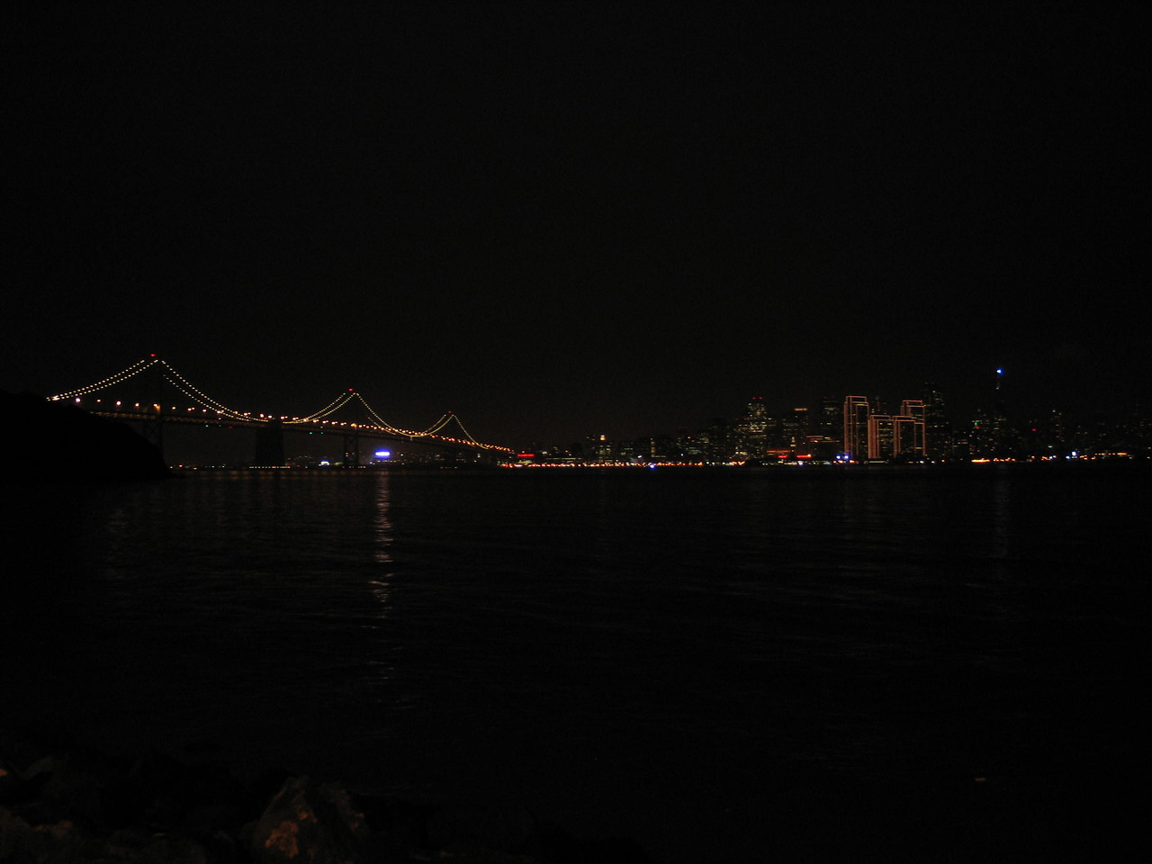 Bay Bridge and the City.