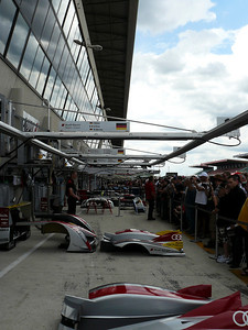 Looking down the pits during the pit walk.