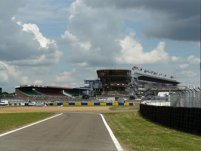 Looking towards the main grandstand.