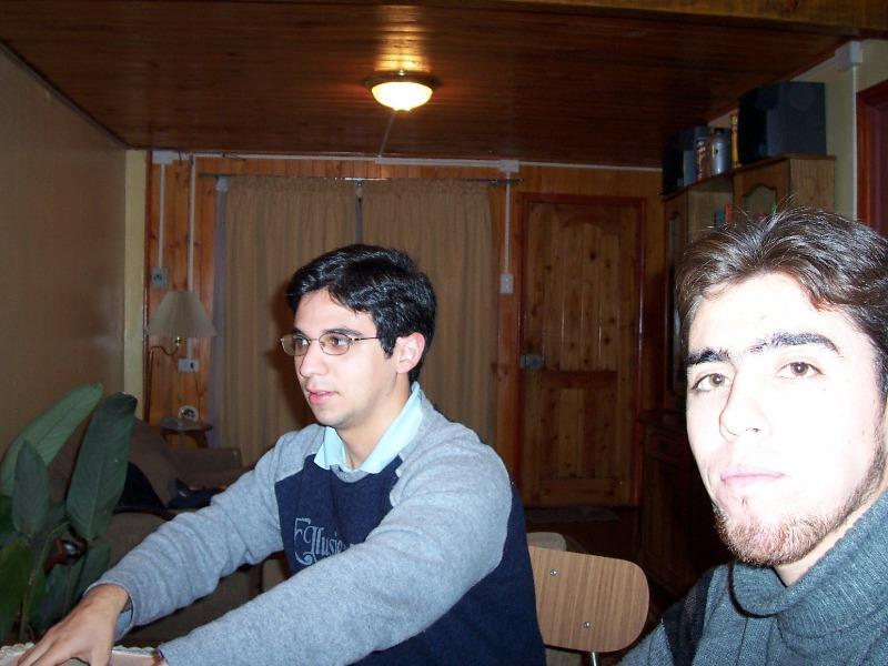 Gonzalo y yo (sali demasiado iluminado, jejeje)