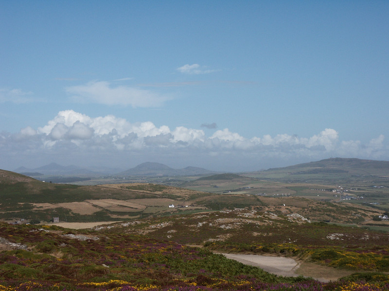 From the top of Mynydd Mawr towards Morfa Nefyn.