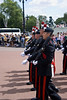 Changing of the guard at Buckingham Palace, London England.