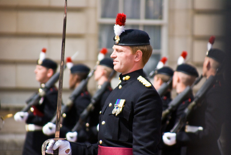 Captured during the changing of the guard at Buckingham Palace, London, UK.