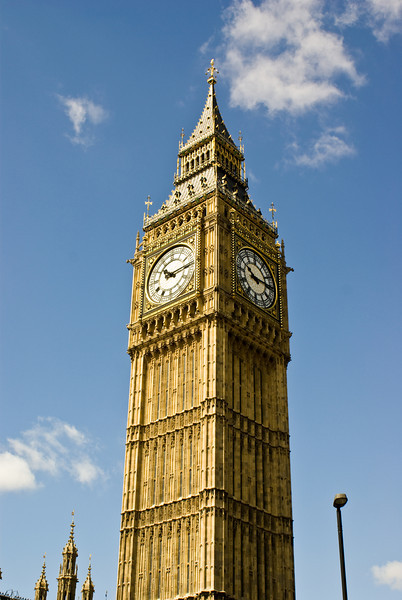 Big Ben, in London, England.