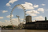The London Eye, on the banks of the river Thames, London, England.