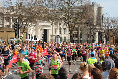 London Marathon at Tower Hill. 21 April 2013 (at 14:04)