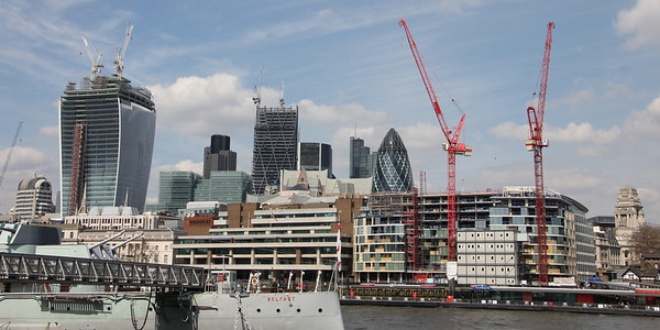 City of London from the south of the Thames. 21 April 2013