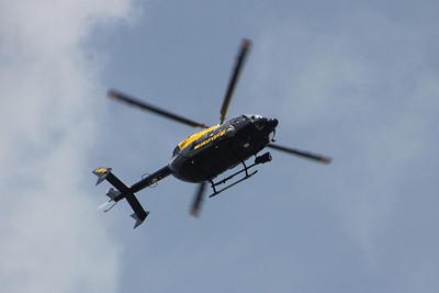 TV Helicopter over the Thames 21 April 2013