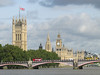 Lambeth bridge, the Palace of Westminster and a red double-decker bus - iconic London