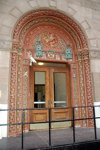 The door of a YMCA Building on the UWS