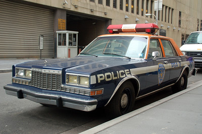 Parked outside the NYPD Museum