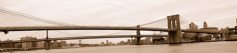 Brooklyn Bridge from South St Seaport