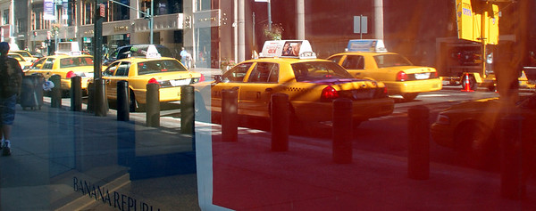 Window reflection - Banana Republic 42nd St nr Grand Central