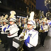 UMass Lowell marching band in Lowell City of Lights parade. (SUN/Julia Malakie)