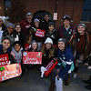 Lowell City of Lights parade. Lowell High Dance Ensemble waiting to start parade. (SUN/Julia Malakie)