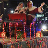 Lowell City of Lights parade. Santa and Mrs. Claus arrive at City Hall. (SUN/Julia Malakie)