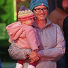 Lowell City of Lights parade. Sarah Thompson of Lowell with daughter LYdia Thompson, 6 months old. (SUN/Julia Malakie)