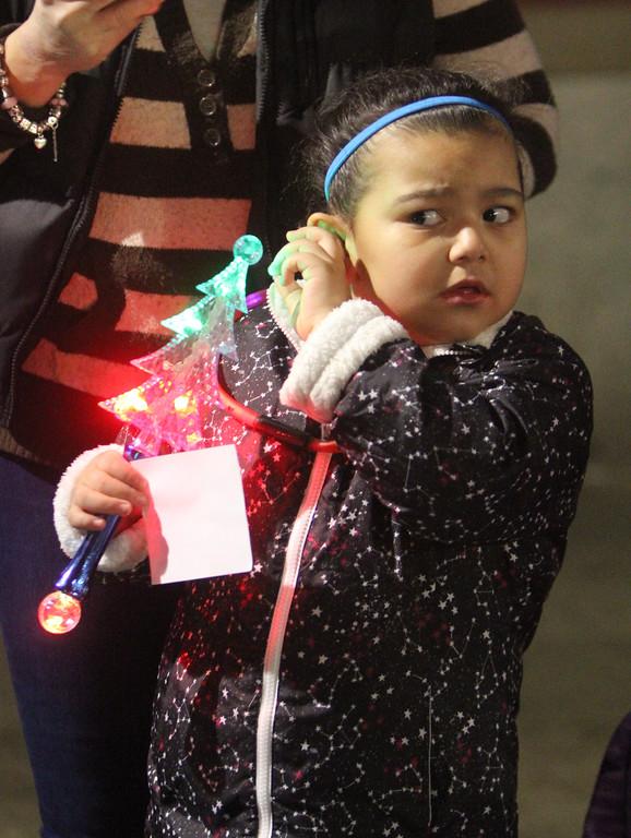 . Lowell City of Lights parade. Kimbella Lipomi, 5, of Lowell. (SUN/Julia Malakie)
