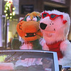 Canaligator and Lowla in Lowell City of Lights parade. (SUN/Julia Malakie)