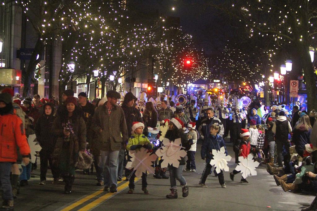 . Lowell City of Lights parade. (SUN/Julia Malakie)