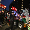 Lowell High Dance Ensemble in Lowell City of Lights parade. (SUN/Julia Malakie)