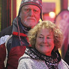 Dave and Pat Johnson of Moscow, PA, visiting their son in Lowell, watch the Lowell City of Lights parade. (SUN/Julia Malakie)