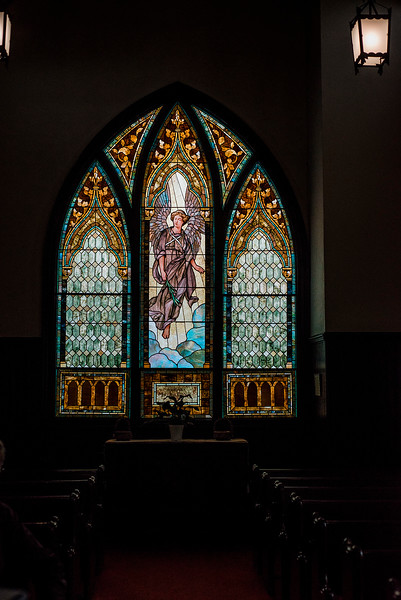 A rededication ceremony will be held on Saturday, November 4, 2017 at 11:00 a.m. for the Lucy Ann Crocker stained glass window at New Patriots Christian Congregation. SENTINEL & ENTERPRISE / Ashley Green