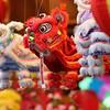 The miniature puppet lion for the Lion Dance...