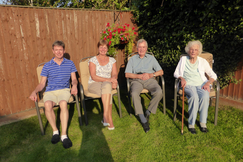 28 degrees in garden at home the day before setting off.